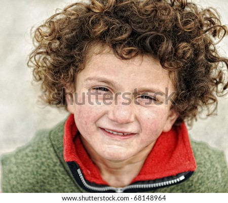 Conceptual image of poor child, suitable for orphanage theme - stock photo