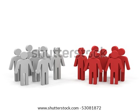Conceptual image of teamwork. - stock photo