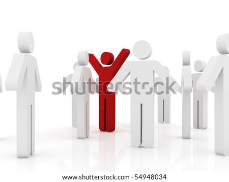 Conceptual image of teamwork - stock photo