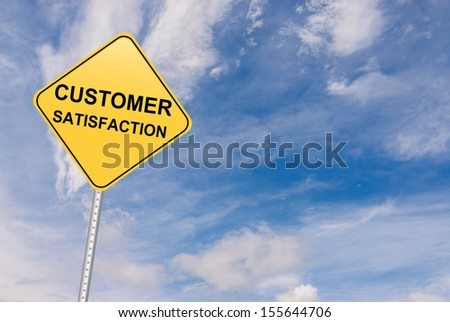 Conceptual image showing respect for customers and customer service - stock photo