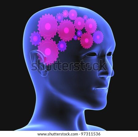 Conceptual image - thought process. 3d - stock photo