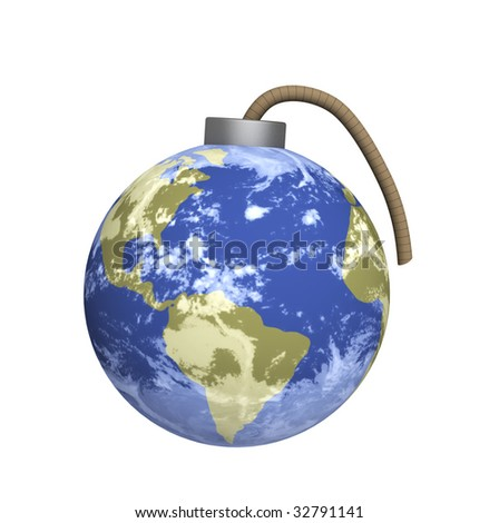 Conceptual image - threat of ecological accident - stock photo