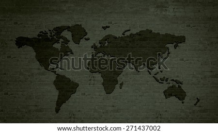 Detailed world map camouflage colors square vectores en stock conceptual image with world map on concrete wall gumiabroncs Image collections
