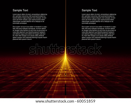 Conceptual Landscape on the subject of light, space, progress and energy. - stock photo