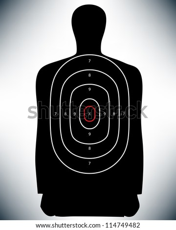 Conceptual Law Enforcement Shooting Target. Proposed colors. - stock photo