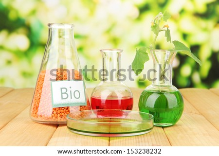 Conceptual photo of bio fuel.  On bright background - stock photo