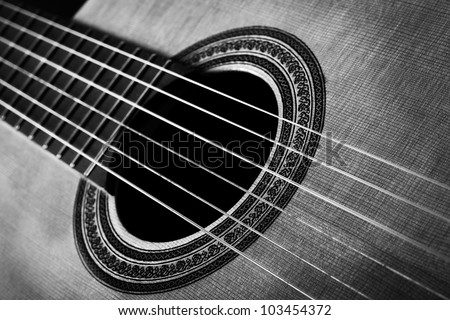 conceptual picture of music and instruments - stock photo