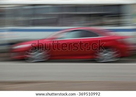 conceptual picture of the red car