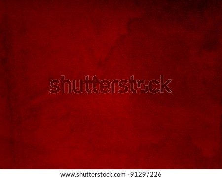 Conceptual red old paper background, made of grungy or vintage texture stained or dirty surface ideal for holiday, Christmas or retro designs with a pattern, decoration or ornament printed