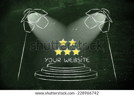 conceptual spotlight illustration about search engine optimization - stock photo