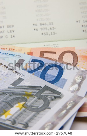 Conceptual  to savings, success and money. Rich colors, Euro currrency Has been used on several high profile web sites.