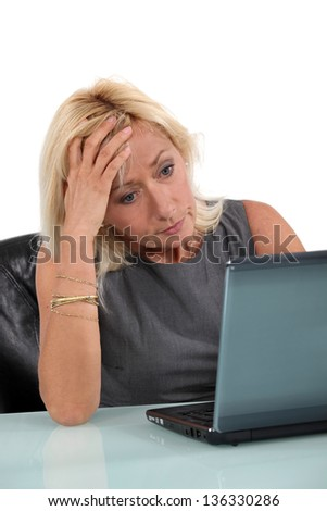 Concerned Executive - stock photo