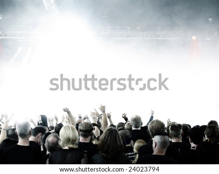 concert crowd with copy space