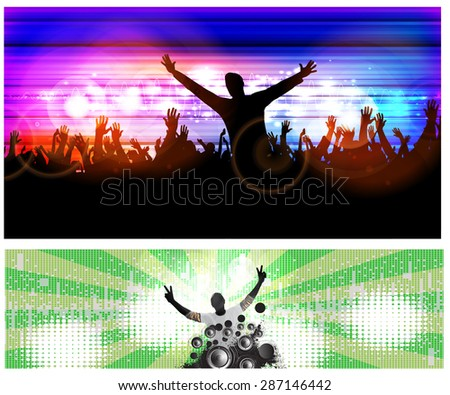 Concert illustration - stock photo