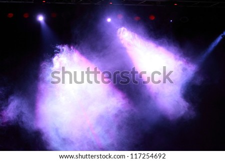 concert lighting - stock photo