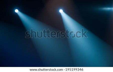 Concert Lighting Spotlight - stock photo