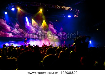 concert people crowd - stock photo