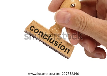 conclusion marked on rubber stamp - stock photo