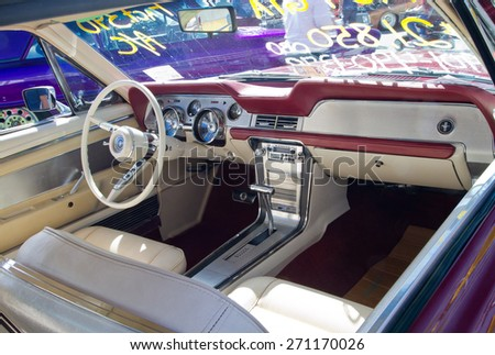 concord nc april 11 2015 interior of a 1967 ford mustang