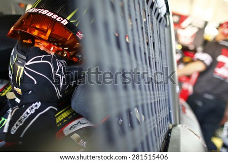 Concord, NC - May 23, 2015:  Kurt Busch (41) gets ready to practice for the Coca-Cola 600 at Charlotte Motor Speedway in Concord, NC.