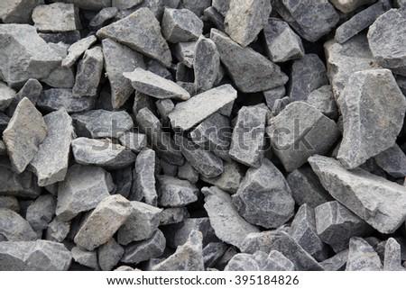 Concrete and brick rubble debris - stock photo