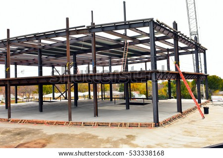 Concrete Steel Frame Multi Story Building Stock Photo (Royalty Free ...