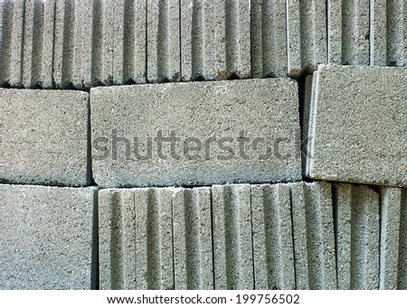 Concrete block - stock photo