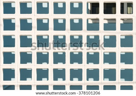 Concrete block wall - pattern / background - stock photo