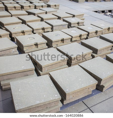 Concrete blocks - stock photo