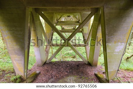concrete bridge trestle - stock photo
