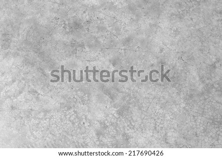 concrete cement wall with crack in industrial building - stock photo