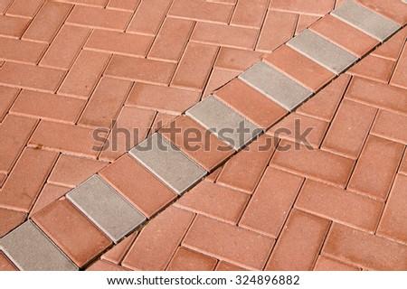 Concrete color pavers                   - stock photo