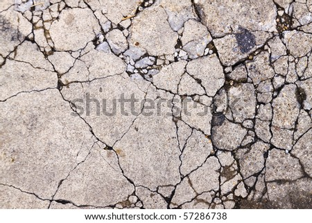 Concrete crack - stock photo
