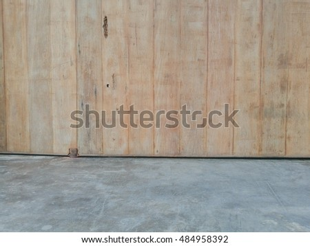 concrete floor and wood wall texture background