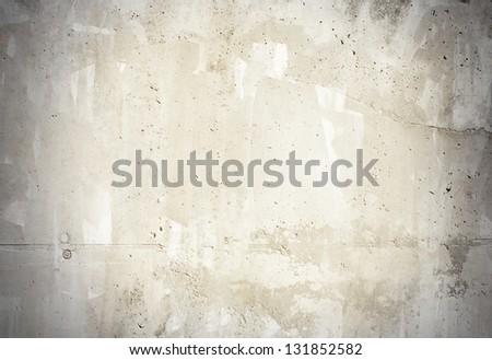 Concrete grunge wall background - stock photo