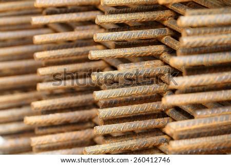 concrete iron - stock photo