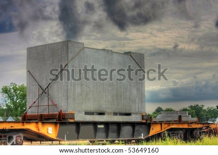 Concrete on rail car