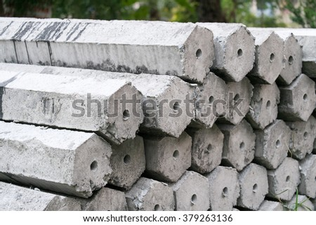 concrete pillar - stock photo