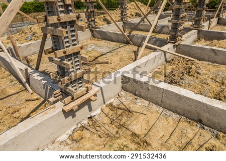 Post and beam stock images royalty free images vectors for Post and pillar foundation