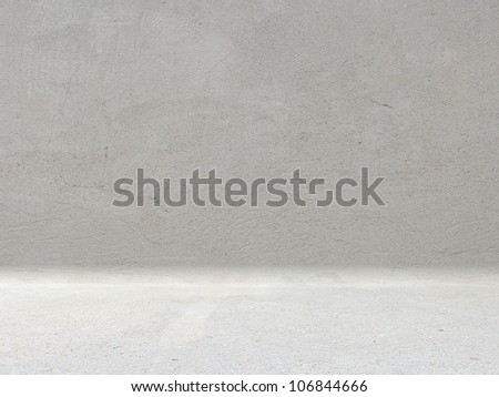 concrete room - stock photo