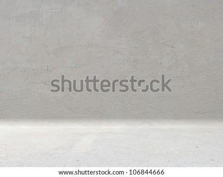 concrete room - stock photo