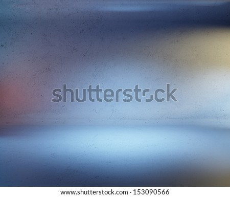 concrete room with colorful spotlights - stock photo