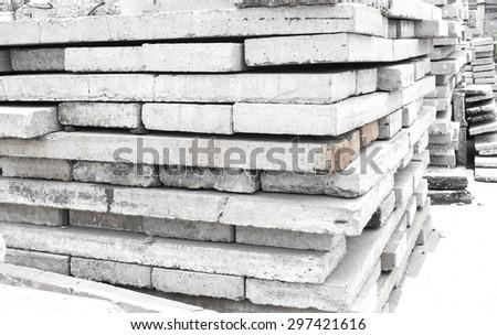 Concrete slabs - stock photo