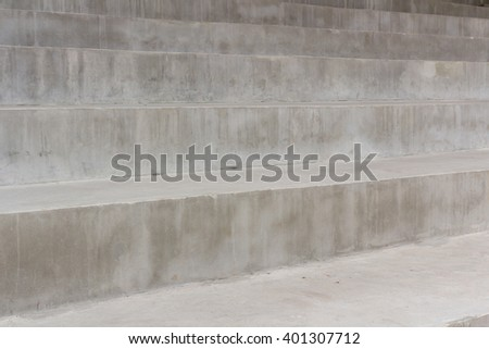 concrete square block shape use for bench seat