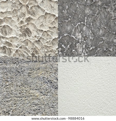 Concrete texture collection - stock photo