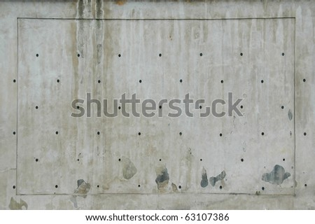 Concrete texture with frame - stock photo