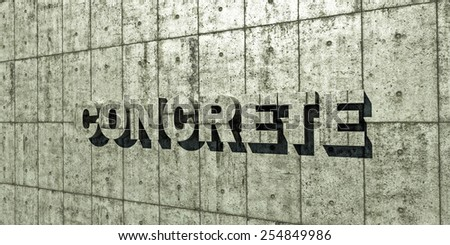 concrete wall in outdoor illustration - stock photo