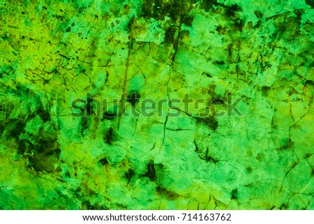 Concrete wall, Texture green cement background.