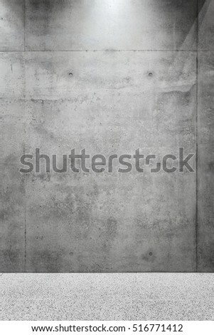 Concrete wall with floor