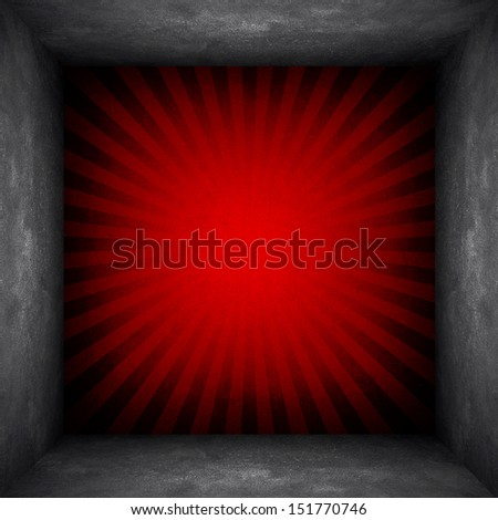 concrete wall with rays pattern - stock photo